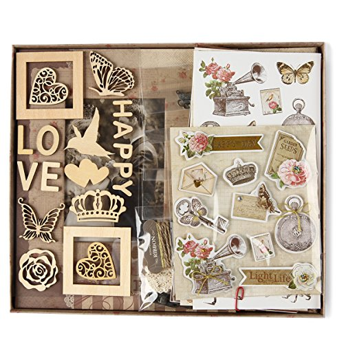 FaCraft Scrapbooking Kit,Wedding Scrapbook Kit with Prote...