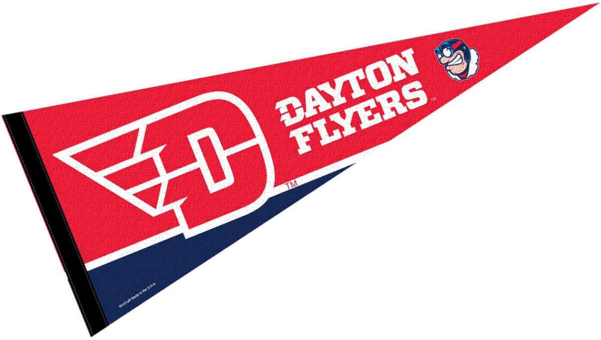 Amazon Com College Flags Banners Co Dayton Flyers New Logo 12 X 30 Pennant Sports Outdoors