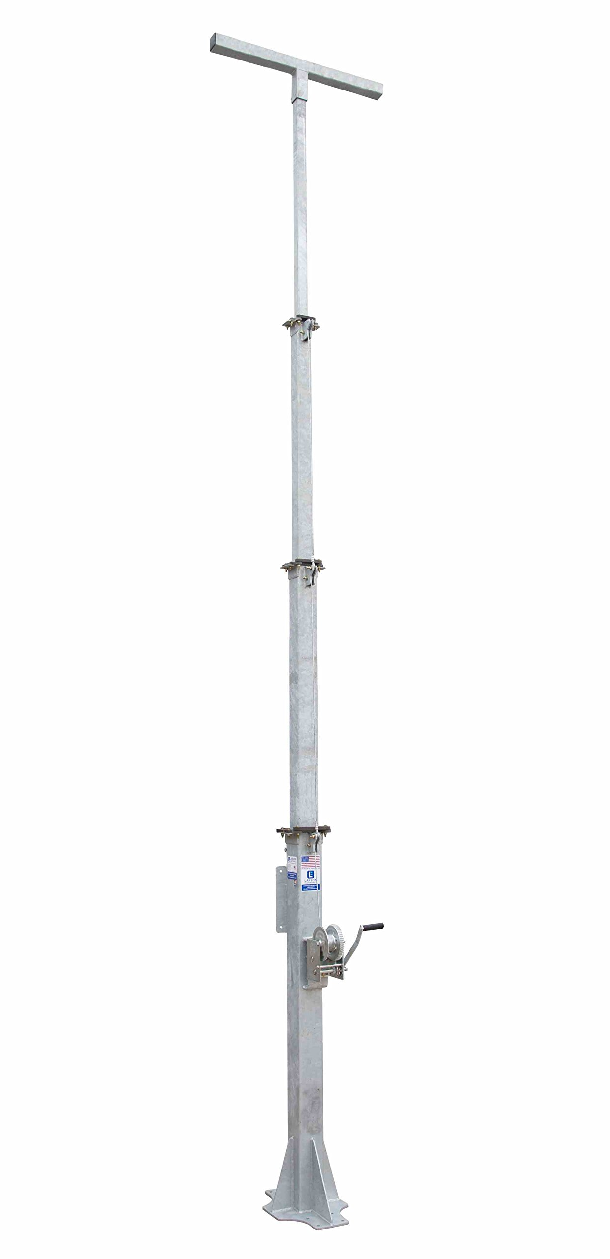 5-10' 3-Stage Light Mast - Cord Reel Mounting Plate - T-Head Mast Plate
