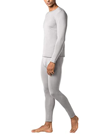 ff69e347efb6b LAPASA Men's Lightweight Thermal Underwear Long John Set Fleece Lined Base  Layer Top and Bottom (