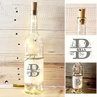 Flaschenlicht mit Name u. Buchstabe mit LED Korken