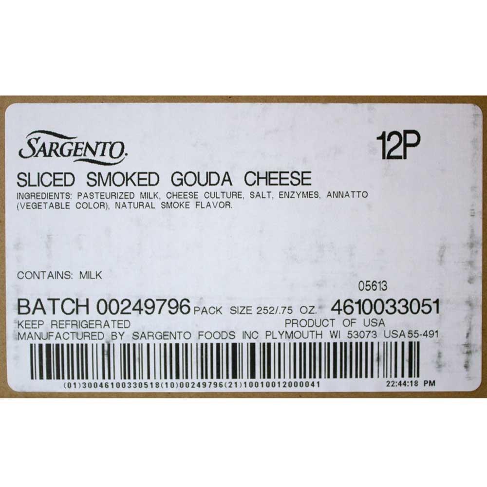 Sargento Smoked Gouda Slice, 21 Ounce -- 9 per case.