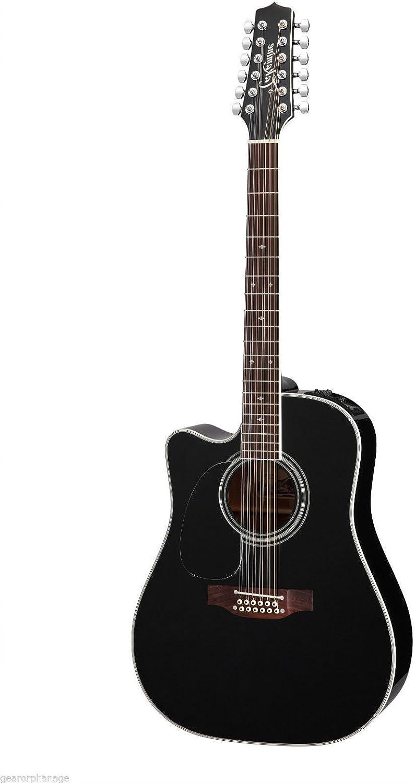TAKAMINE ef381sc acústica de 12 cuerdas guitarra eléctrica zurdos ...