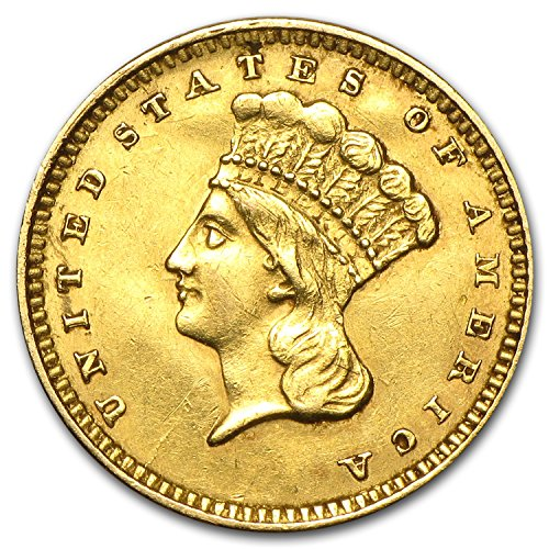 1849-1889 $1 Indian Head Gold Type 3 (Cleaned) G$1 92-Cleaning