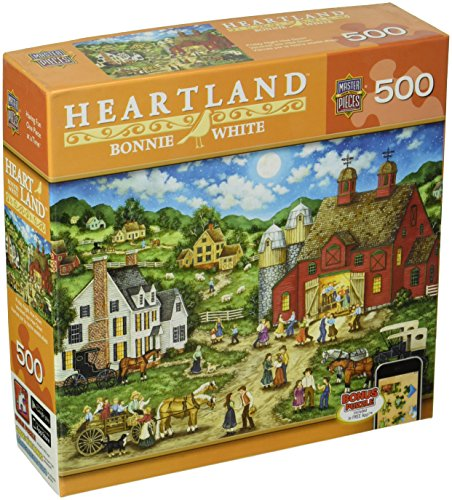 Price comparison product image MasterPieces Heartland Collection Friday Night Hoe Down Jigsaw Puzzle,  500-Piece