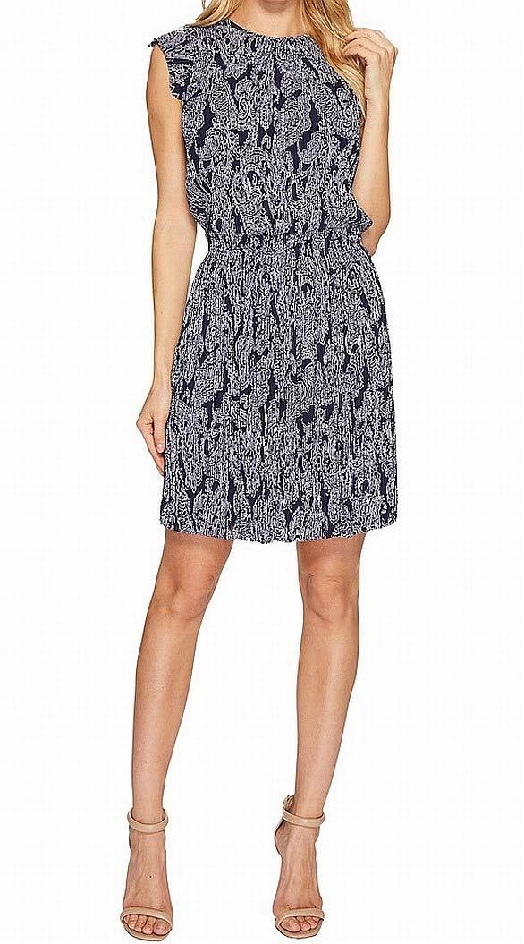 MICHAEL Michael Kors Womens Samara Pleated Printed Casual Dress at ...