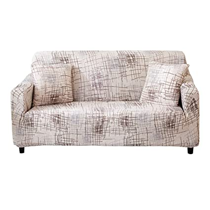Pleasant Hotniu 1 Piece Stretch Sofa Couch Covers Spandex Printed Fitted Elastic Couch Slipcovers Patterned Seat Furniture Protector With Elastic Bottom Ibusinesslaw Wood Chair Design Ideas Ibusinesslaworg
