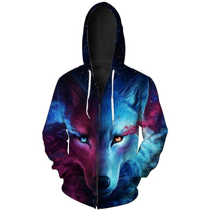 Amazon.com: wolfhdies Two-Color ojo lobo la moda cierre ...