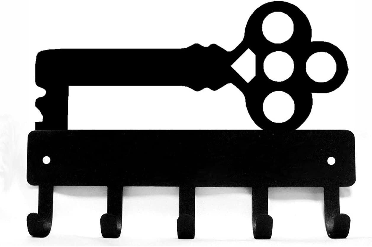 Large 9 inch Wide Decorative Ornate Skeleton Metal Key Rack Hanger