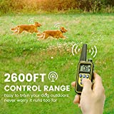 Dog Training Collar, Cambond 2 Dogs Shock Collar with Remote 2600ft Control Waterproof and Rechargeable Electronic Dog Collar for Medium and Large Dogs with 4 Training Modes Light Shock Vibration Beep