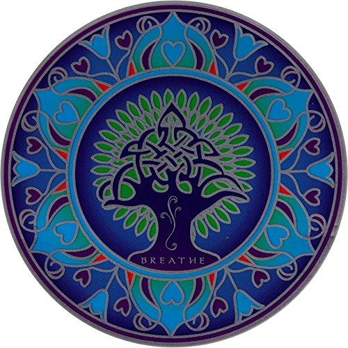 Earth Mandala - Environmental Stained Glass Window Art Sticker / Decal (5.5