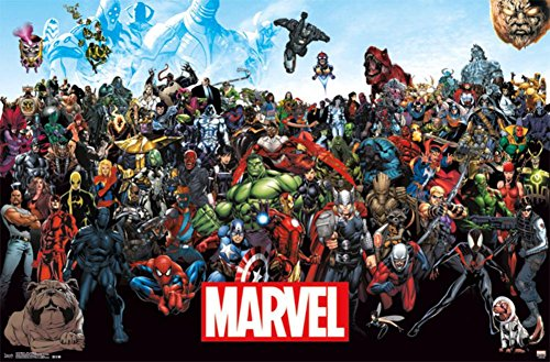 "Trends International Marvel Comics The Lineup Wall Poster 22.375"" x 34"""
