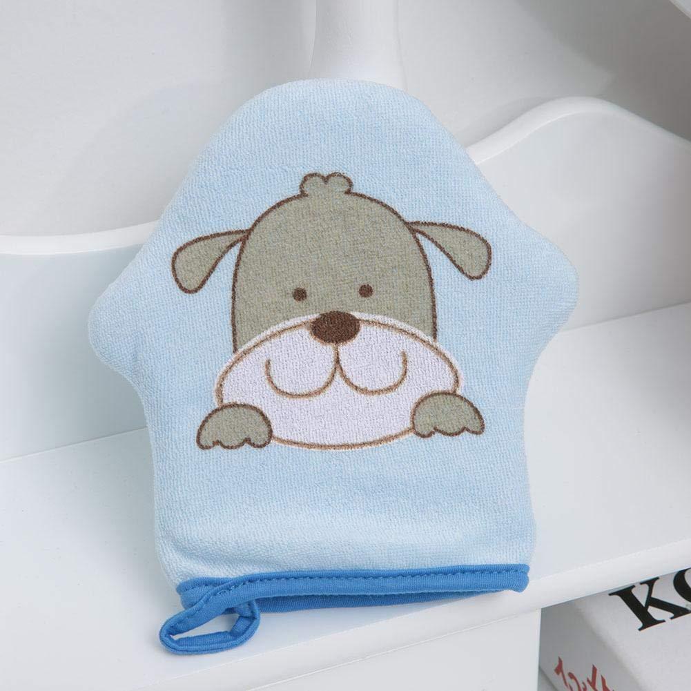 Baby Bath Sponge Bath Mitt Cartoon Star Model Soft Cotton Baby Shower Sponge Kids Bath Mitt Cotton Scrubber for Kids and Toddlers cat