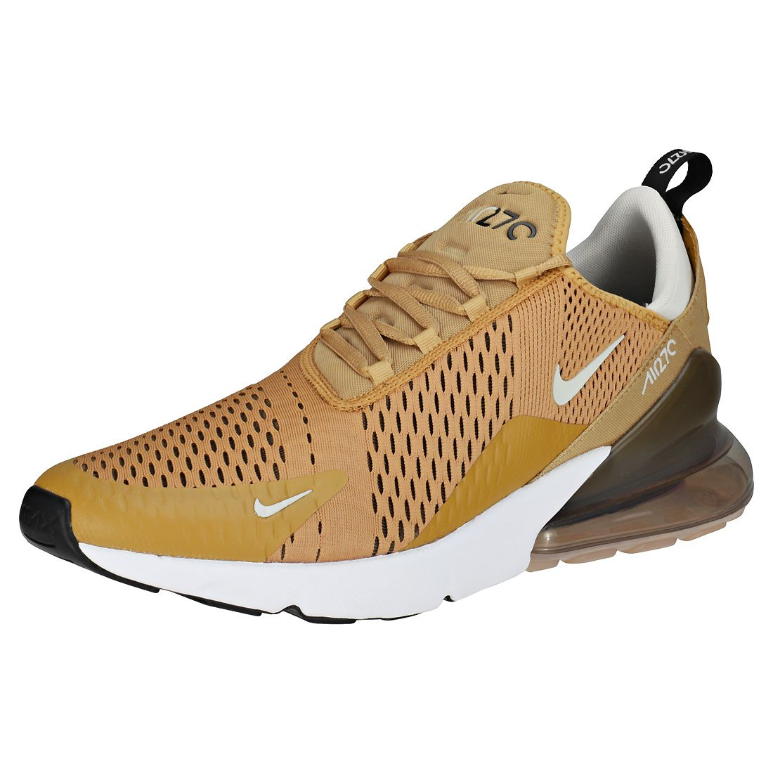 Nike Air Max 270 Flyknit Sneaker Trainer  45 EU|Gold/Brown