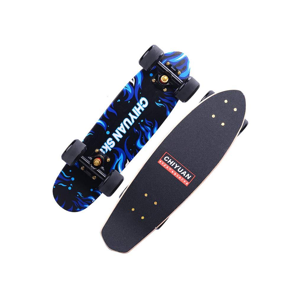 品質満点! ZX flame 四輪スケートボード (色 女の子 男の子 初心者 Blue 若者 初心者 アダルト フラッシュホイール メープル 魚プレート シングルワープ スクーター (色 : Starry sky) B07GXNMTXV Blue flame Blue flame, ハノウラチョウ:40c45a02 --- a0267596.xsph.ru