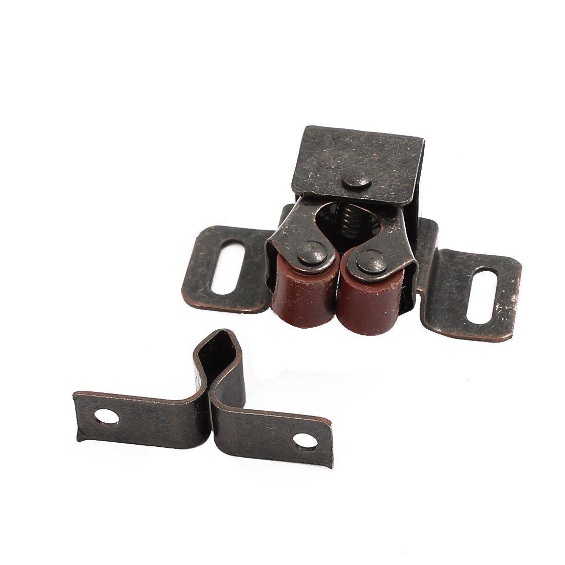 eDealMax Armoire Cabinet Porte Double roulement à Rouleaux Catch 46x30x20mm Loquet 15pcs Bronze