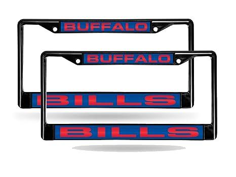 Amazon.com: Buffalo Bills NFL Black Metal (2) Laser License Plate ...