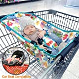 Upgrade Baby Shopping Cart Hammock for Newborn Under 6 Months Infant, Safer for Babies, Come with Cartoon Storage Pouch, Best Baby Shower Gifts for Mommy and Daddy, Ship from US