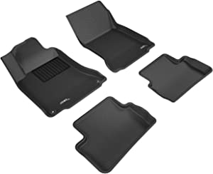 3D MAXpider - L1MB04801509 Complete Set Custom Fit All-Weather Floor Mat for Select Mercedes-Benz GLA-Class Models - Kagu Rubber (Black)