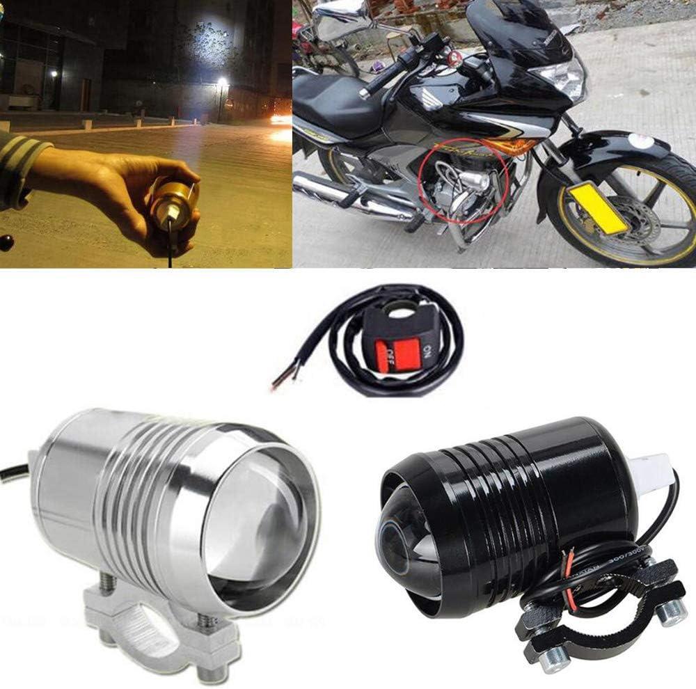 BOINN 2 Uds LED 60W Universal Motocicleta Impermeable Faro Foco Luz Auxiliar Motocicleta Foco LED con Interruptor