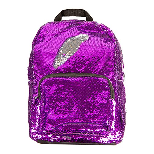 Style.Lab Magic Sequin! Reversible Purple to Silver Fashion Backpack, - Women For Styles