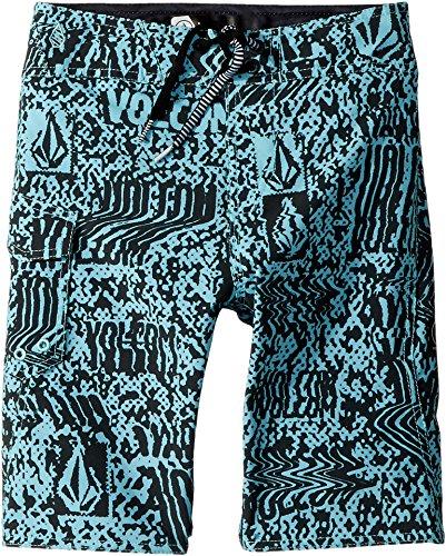 Volcom Big Boys' Logo Plasm Mod 18'' Boardshort, Pale Aqua, 25 by Volcom
