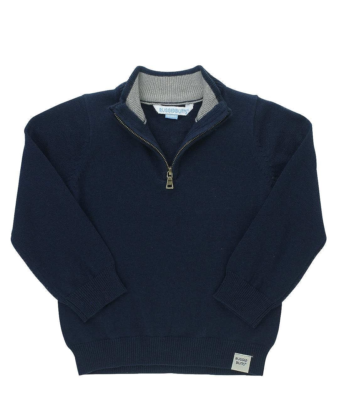 RuggedButts Little Boys Pullover Quarter-Zip Sweater