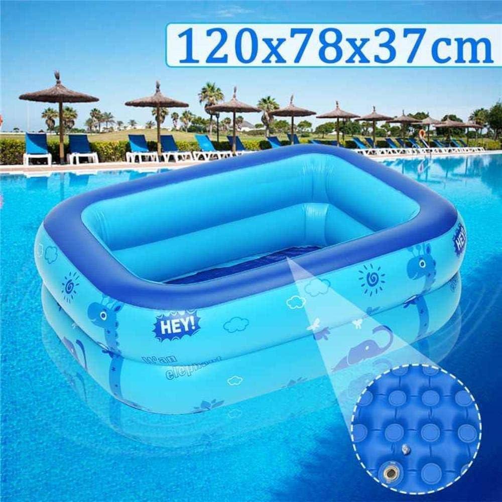 Alaeo Piscinas inflables Piscina para niños de Gran tamaño Uso en el hogar para niños Piscina para niños Piscina Cuadrada Inflable Playa Familiar al Aire libre-120cm