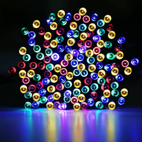 Solar lights outdoor christmas janet blog christmas solar string lights outdoor patio waterproof lights 39 feet 100 led fairy lights multi colored mozeypictures