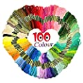Homder Cross Stitch Floss 100 Skeins Premium Rainbow Color Embroidery Floss Sewing Threads from Homder