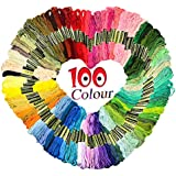 Homder Cross Stitch Floss 100 Skeins Premium Rainbow Color Embroidery Floss Sewing Threads