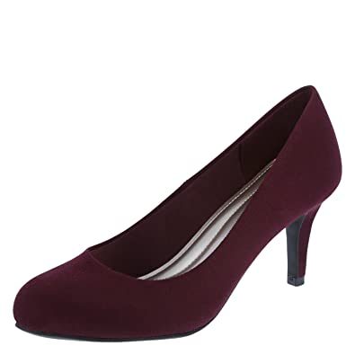 Predictions Comfort Plus by Women's Wine Suede Women's Karmen Pump 5 Regular