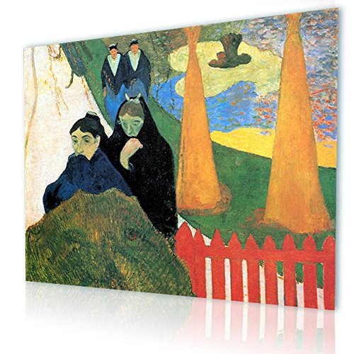 Alonline Art - Old Women Of Arles Paul Gauguin PRINT On CANVAS (Synthetic, UNFRAMED Unmounted) 41