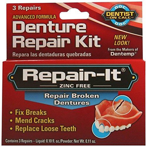 D.O.C. Repair-It Denture Repair Kit, 3 repairs (Pack of 3)