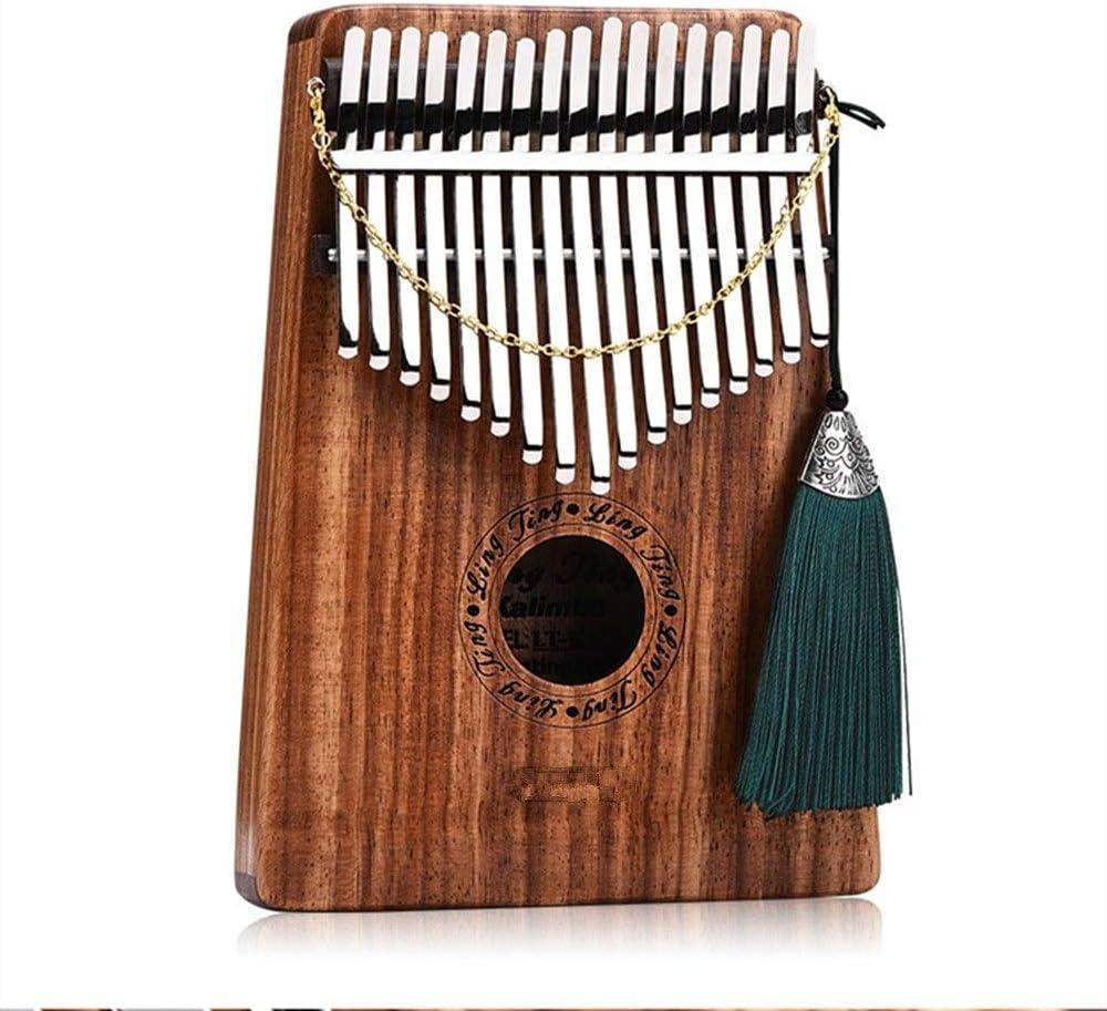 カリンバ 17トーンゴールドシルク紫檀親指ピアノ8つのアクセサリーポータブルカリンバソリッドウッドビブラート手のピアノ 子供とピアノ初心者に適しています (Color : Wood, Size : ONE SIZE)