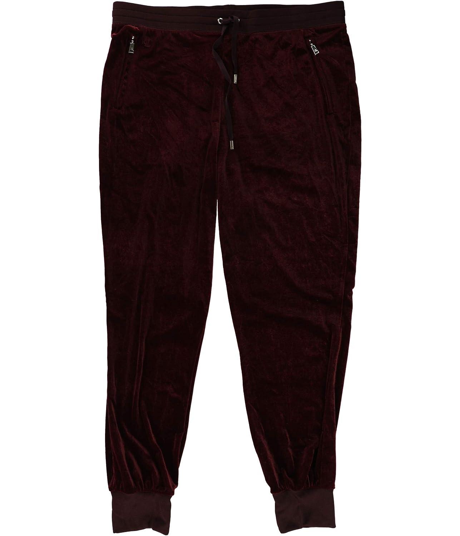 Ralph Lauren Womens Velour Casual Jogger Pants Red Pm 28  Petite