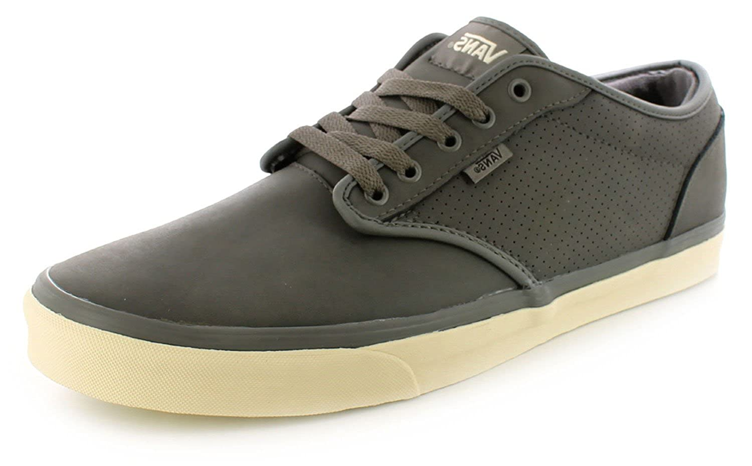 f9937fbe79 New Mens Gents Grey Vans Nubuck Leather Skate Style Trainers - Grey - UK  SIZE 15  Amazon.co.uk  Shoes   Bags