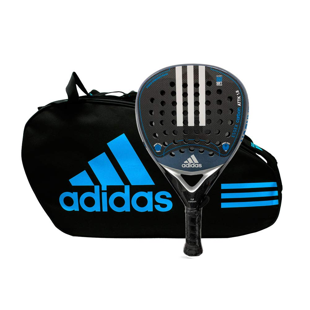 adidas Pack pádel Essex Carbon Attack 1.8 Silver Control Blue ...