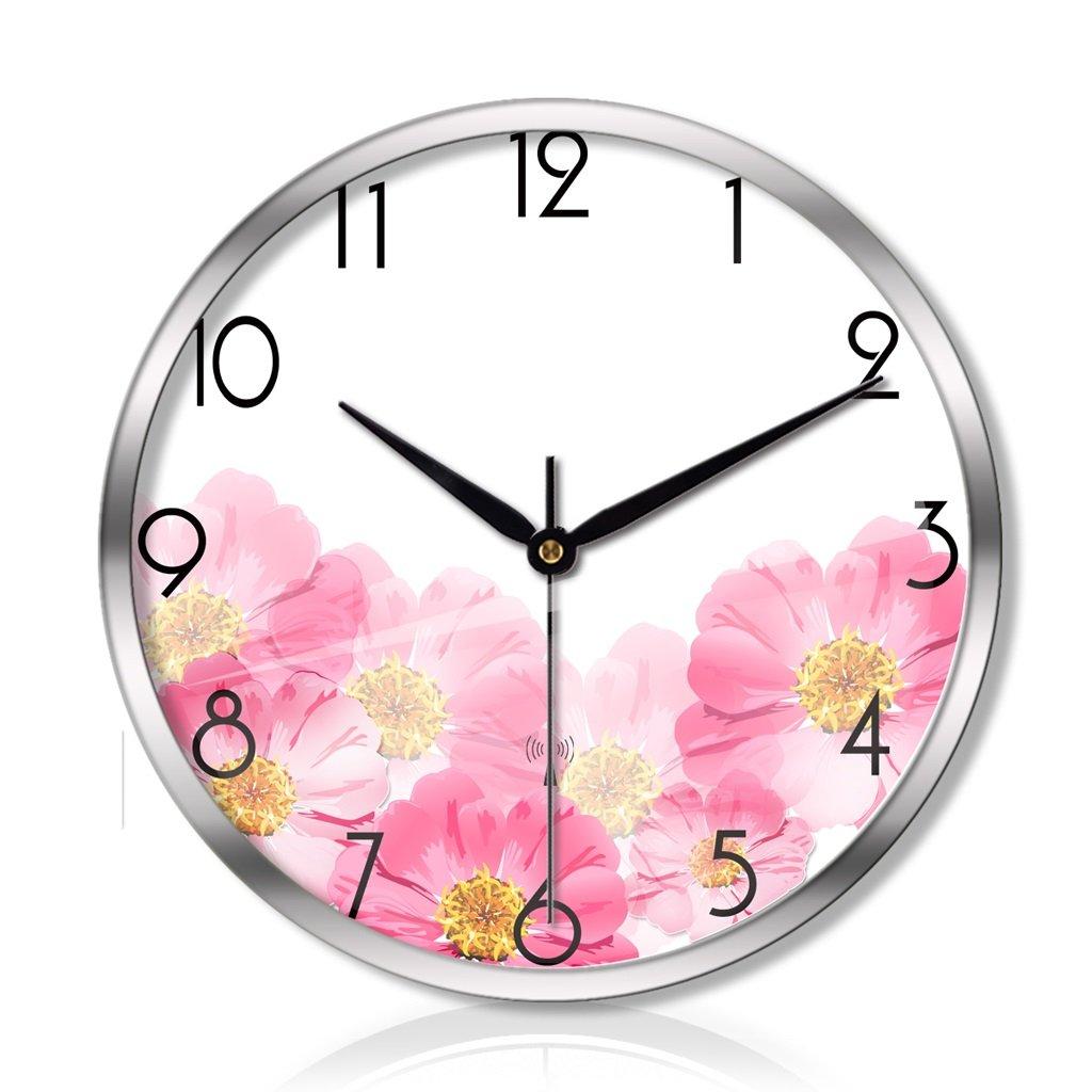 時計とリビングルームの寝室の創造的な金属の壁時計静かなスキャンインテリジェントな電波の壁時計の3世代 LCS (色 : シルバー しるば゜, サイズ さいず : 12インチ) B07FCFBWMWシルバー しるば゜ 12インチ