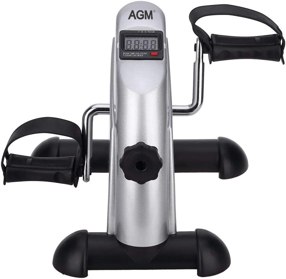 AGM Mini bicicleta estática pedales para entrenamiento de brazos y ...