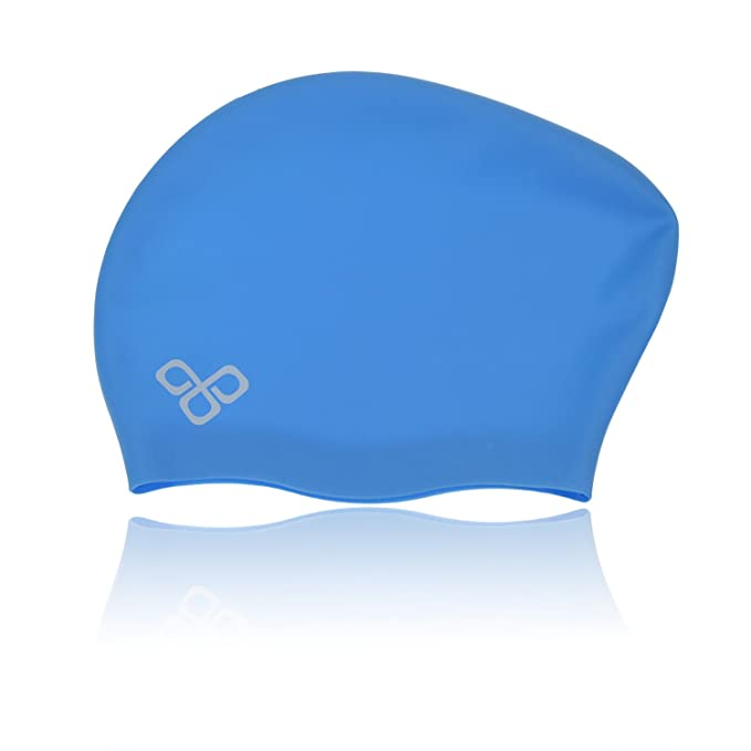 a66c2060bc2 Amazon.com : Vitchelo Waterproof Extra Large Swim Caps for Long Hair -  Silicone Swimming Cap Dreadlocks Women & Ladies That Keeps Hair Dry (Blue)  : Sports & ...