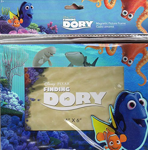 Disney Finding Dory - Magnetic Picture Frame (4x6 In) - Metallic Colors - Newborn, Kid, Child, Children, Infant, (Frame Findings)