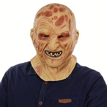 Circlefly Halloween látex Fuego Cara Monstruo Carrion Campana Horror putrefacto Zombie mueca mascarilla Adultos Máscara de