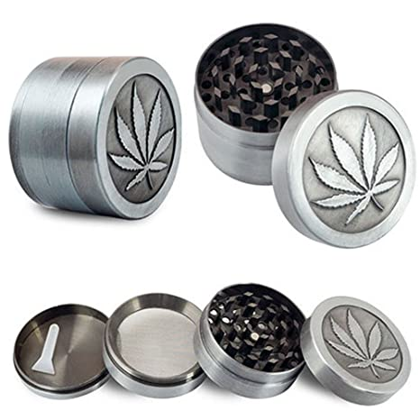 a1a729ae0d7 Buy 4 Layer Zinc Alloy Herb Grinder 40mm Herb Spice Grass Weed Tobacco  Smoke Grinders For Men Smoking Accessories Online at Low Prices in India -  Amazon.in