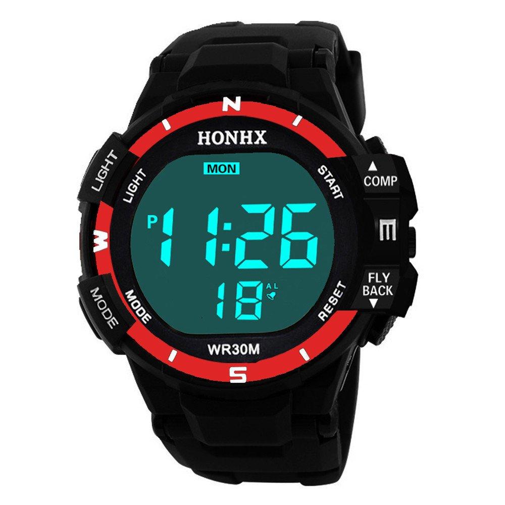 2487efc3b Amazon.com: POTO Digital Sports Watch HOT Sale Men Electronic Waterproof  LED Military Army Sport Wrist Watch (Blue-2): Watches