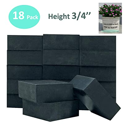 """Pot Feet H3/4"""" Pot Risers for Large Medium Small Planters Pots, Invisible Plant Riser, Pot Elevator for Outdoor, Indoor, Patio, Garden, Furniture, Statuary, Deck Use - 18 Pack: Garden & Outdoor"""