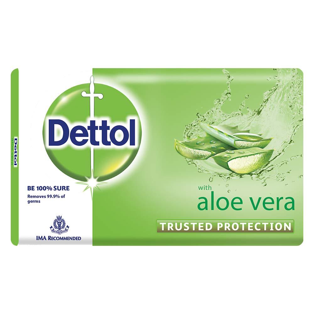 Dettol Aloe Vera Bathing Bar Soap 100 G Health Body Wash Refill Cool 450 Ml Personal Care