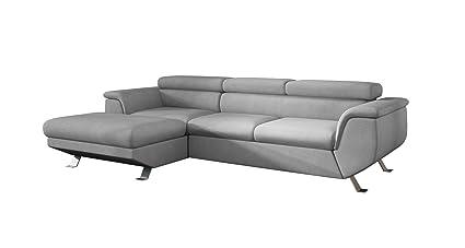 buy online 77232 8725d Amazon.com: EQsalon Como Elegant L-Shaped Sectional Couch w ...