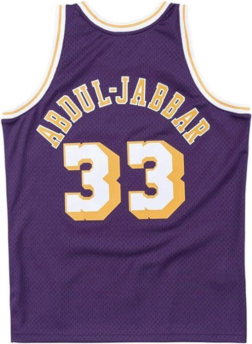 Jersey De Baloncesto para Hombre Kareem Abdul-Jabbar # 33 Jersey Camiseta Sin Mangas Transpirable Fitness Sudadera Jersey Fan