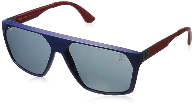 Rayban 0RB4309M F60487 61, Gafas de Sol para Hombre, Matte Blue/Dark Grey: Amazon.es: Ropa y accesorios